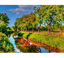 Bata Canal Strážnice painting, oil painting, nature Photographic Print