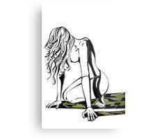 The Little Mermaid Surfaces Metal Print