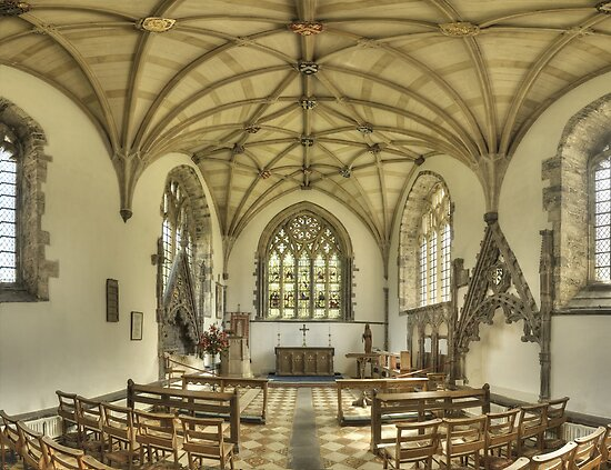 Lady Chapel, St David's Cathedral, Wales by Bob Culshaw