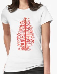There comes the Christmas Tree! Womens Fitted T-Shirt