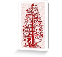 There comes the Christmas Tree! Greeting Card