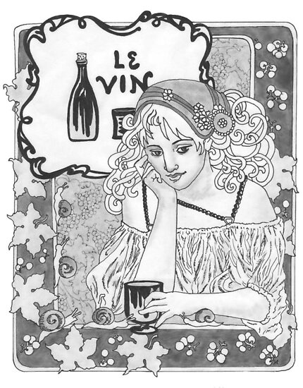 Le Vin by redqueenself