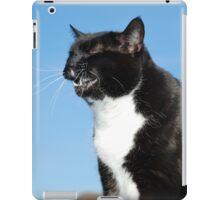 Sneezing black and white cat iPad Case/Skin