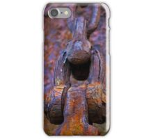 anchor chain on the hulk of the Portlairge, Saltmills, County Wexford iPhone Case/Skin