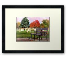 Sit Down and Visit for Awhile Framed Print