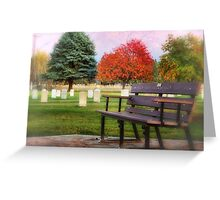 Sit Down and Visit for Awhile Greeting Card