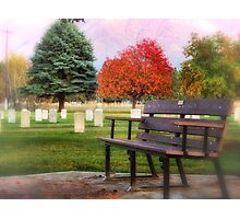 Sit Down and Visit for Awhile Photographic Print