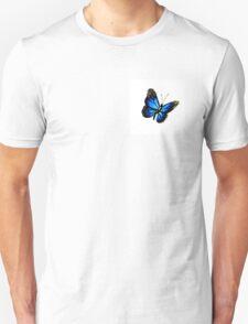 Brilliant Blue Butterfly Unisex T-Shirt
