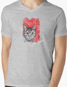 The Finnish Cat Mens V-Neck T-Shirt