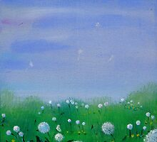 Dandelion meadow by Regina Valluzzi