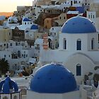 sunset in santorini,greece by milena boeva
