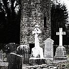 Aghavillier cemetry and round tower by Andrew Jones