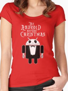 The Android Before Christmas  Women's Fitted Scoop T-Shirt