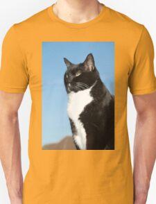 Mature black and white cat T-Shirt