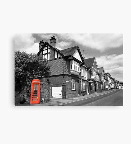 Red Telephone Box - Marlborough Canvas Print