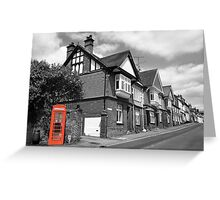 Red Telephone Box - Marlborough Greeting Card