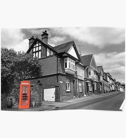 Red Telephone Box - Marlborough Poster