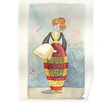Illustration, Albanian traditional costume 1of Piana degli Albanesi Poster