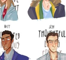 Cast of 'Until Dawn' Sticker