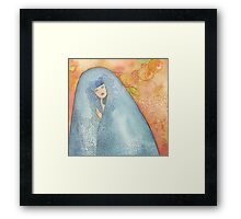Lighea - Girl with blue veil Framed Print