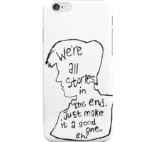 Matt Smith Silhouette Doctor Who Quote iPhone Case/Skin