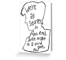 Matt Smith Silhouette Doctor Who Quote Greeting Card