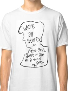 Matt Smith Silhouette Doctor Who Quote Classic T-Shirt