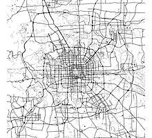 Beijing Map Photographic Print