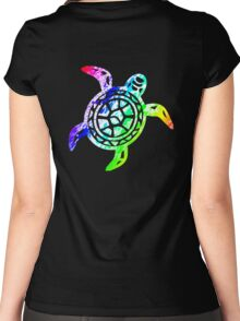 Rainbow Sea Turtle Women's Fitted Scoop T-Shirt