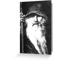 Scandinavian Mythology the Ancient God Odin Greeting Card