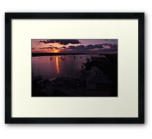 Sunrise from Mantazas Pass, As Is Framed Print