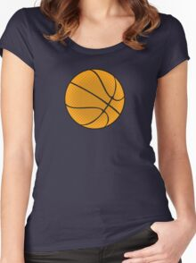 Basketball Vector Women's Fitted Scoop T-Shirt