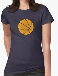 Basketball Vector Womens Fitted T-Shirt