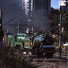 Flying Scotsman & 3801 @ Parramatta 1989 by muz2142