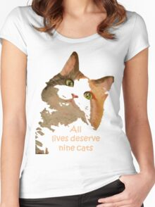 All Lives Deserve Nine Cats Women's Fitted Scoop T-Shirt