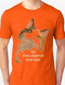 All Lives Deserve Nine Cats Unisex T-Shirt