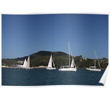 Sailing at Nelson Bay Poster
