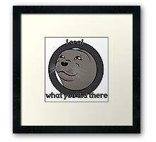 I seal what you did there Framed Print