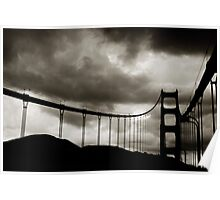 Golden Gate Silhouette Poster