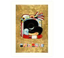 Raven Visits Chichen Itza Art Print