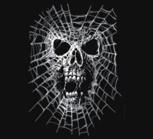 Funny Graphic T Shirt Spider Web Skull Humor Tee FREE SHIPPING WORLDWIDE by WORTEL