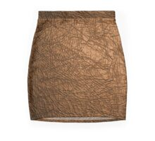 Leather Suede  Mini Skirt