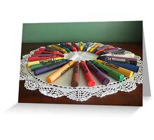 colouring wheel Greeting Card