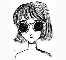 Retro Black and White Sunglasses Girl Unisex T-Shirt