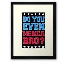 Do You Even 'Merica Bro? Framed Print