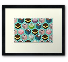 Cubes of goodies Framed Print
