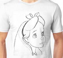 Alice Black and White Unisex T-Shirt