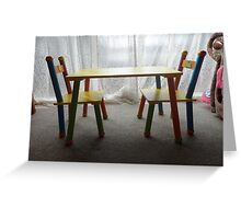 tiny tots  table and chairs Greeting Card