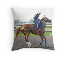 Galloping By Throw Pillow