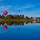 A Massive Hot Air Balloon Reflection by Roschetzky